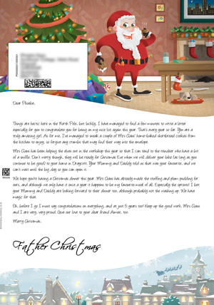 Santa Having a Snack - Personalised Santa Letter Background