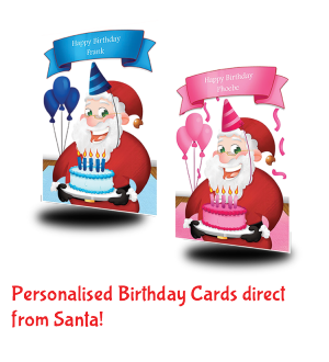 Personalised Birthday Cards From Santa Claus