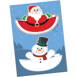 Santa and Snowman Festive Cut out