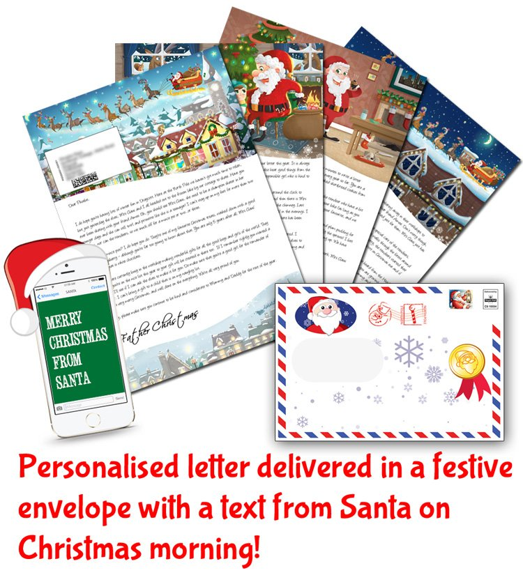 Personalised Santa Letters with Free Text Message from Santa Claus
